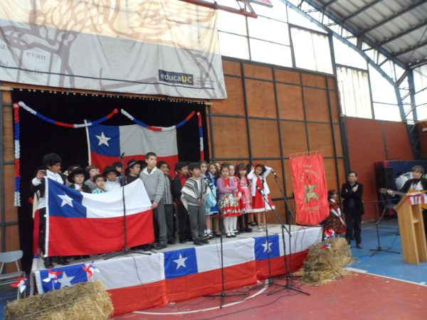 Fiestas Patrias en el Colegio en años anteriores