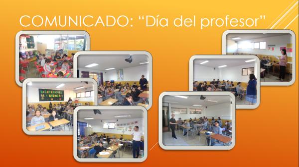 Comunicado: Día del Profesor