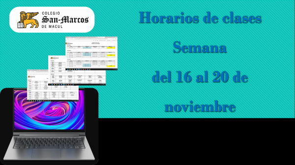 Horarios semana 16 al 20 de noviembre