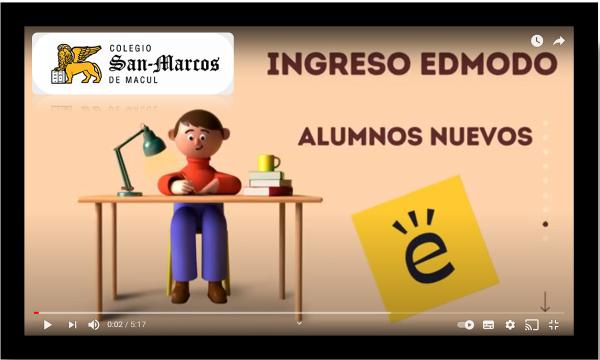 Tutorial de ingreso a Edmodo alumnos(as) nuevos(as)